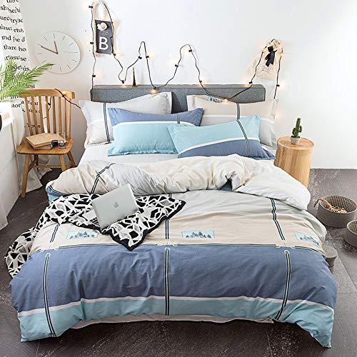yaonuli Bettwäschesatz mit Vier Rahmensätzen 2,0 m Bett (Bettbezug 220 x 240 cm x 1 Blatt 270 x 250 cm x 1 Kissenbezug 48 x 74 cm x 2) Vier Sätze