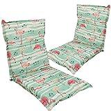 Diluma Niedriglehner Auflage Naxos für Gartenstühle 2er Set 98x49 cm Flamingo - 6 cm Starke Premium Stuhlauflage mit Komfortschaumkern - Sitzauflage Made in EU
