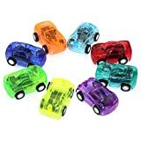 EQLEF Mini spielzeugauto, Cars Spielzeug Cartoon Zurückziehen Spielzeug Zurückziehen Fahrzeuge Für Kinder 4 stücke