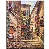 HSFFBHFBH Quadri su Tela Stampa Paesaggi di paesaggi Classici della Città Poster e Stampe Immagini per la casa Decorazioni per soggiorno-50x70cm No Fram