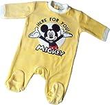 Disney Micky Maus Pyjama / Schlafanzug / Strampler - Mickey - Here for you! - Gelb