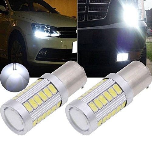 Tuincyn 1156bombillas led color Blanco 5630BA15S 8000K 900lúmenes 7440NA74417056luz brillante de freno, señales de giro, bombilla de luz de estacionamiento, marcadores laterales Corriente continua (DC) 12V 3,6W (Pack de 2).