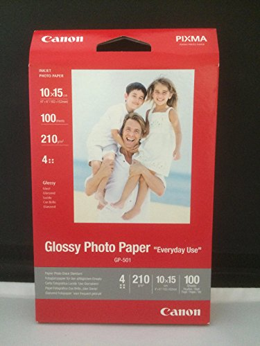 Canon Fotopapier, 100 Blatt 10 x 15, Glänzend, Glossy Photo Paper Everyday 210g, A6 10x15, GP501