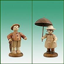 Termine las figuras anuales pares de granjeros con la figura sin pintar montañas de la primavera de la altura los aproximadamente 7cm OTRA VEZ Dekofigur de la pantalla del mineral de madera