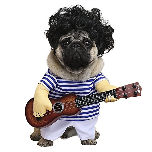 Cleana Arts - Disfraz de Perro para Mascotas, Estilo de Guitarra, Gato,...