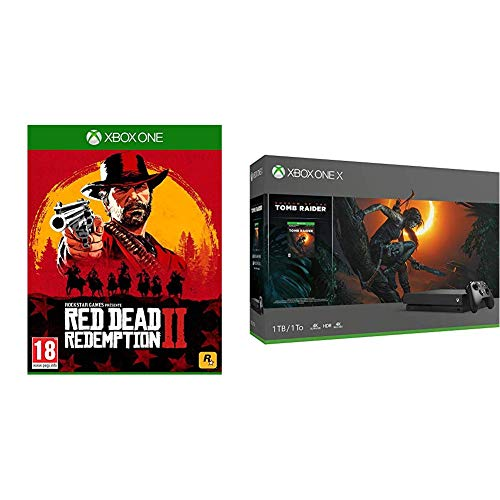 Xbox One X + Shadow of The Tomb Raider + RDR 2