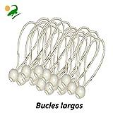 Elija entre 50, 75 o 150 Paquete 'GRANDE': Cordones elásticos bungees de topes bola para tiendas de campaña, carpas y lonas (75 Paquete)