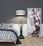 WeltDerBilder Türposter selbstklebend - Diamanten silber violett - (91 x 211cm) Türaufkleber Türtapete - 10 Motive zur Auswahl