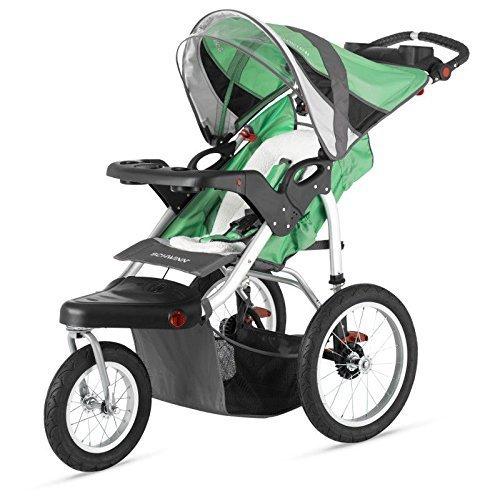schwinn-turismo-single-baby-swivel-jogging-stroller-green-black-by-jogging-strollers