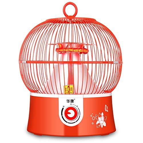 Calentador de Jaula de Pájaros, Calentador Eléctrico de Bajo Consumo, Calentador Eléctrico de Uso Doméstico, Escritorio de Oficina, Pequeño Sol, Mini Estufa Eléctrica para Hornear,rojo,Un tamaño little sun