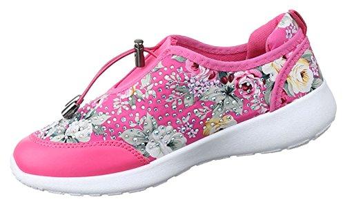 Damen Sneakers Schuhe Freizeitschuhe Slipper Sportschuhe Runner Turnschuhe Schwarz Blau Rosa Weiss Multi 36 37 38 39 40 41 Rosa Multi