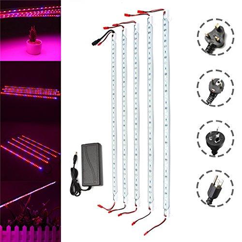 Wuchance DC12V 5PCS 50CM Impermeabile SMD5050 Rosso: Blu 5: 1 36LED Strip Plant Garden Grow Light + 5A Power Adapter (Color : EU Plug)