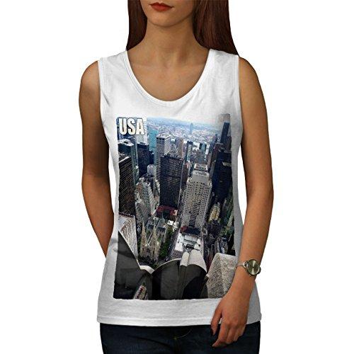e Stadt Mode Frau Tank Top Stadt, Dorf Athletisches Sport-Shirt ()
