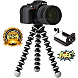 Mobias Retails, Gorilla Tripod For Mobile Phones/DSLR Camera And 2 In 1 Lens Kit With Free 16 LED Selfie Flashlight For Mobiles