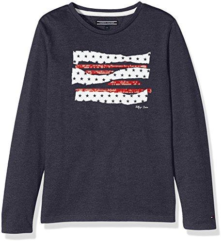 Tommy Hilfiger Mädchen Langarmshirt Americana CN Knit L/S
