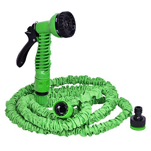 COSTWAY Gartenschlauch Wasserschlauch Flexischlauch Bewässerungsschlauch Zauberschlauch dehnbar flexibel grün Länge 7,5m bis 60m (7,5m)