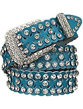 HOMEE Gürtel weiblichen Diamant Mosaik Mode Nadel Schnalle breit