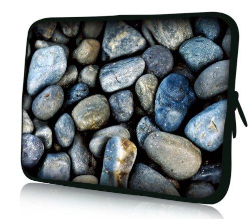 Luxburg® Design Laptoptasche Notebooktasche Sleeve für 17,3 Zoll, Motiv: Strümpfe Geröll