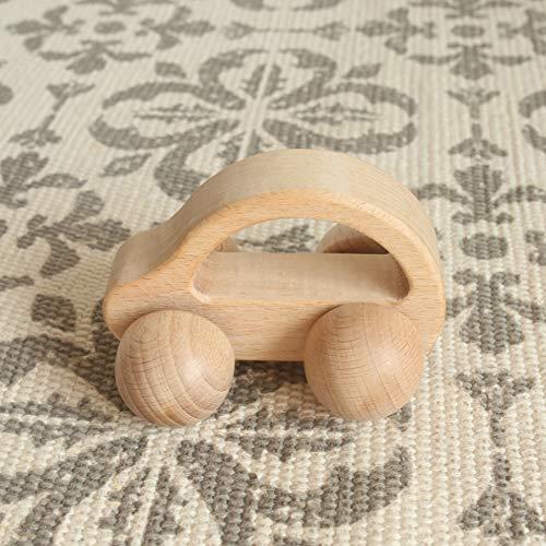 Mamimami Home Juguetes para bebés Teether Juguetes Montessori Jugar Gym Bebé Crib Juguetes Beech Wooden Car Activity Gym Juguetes
