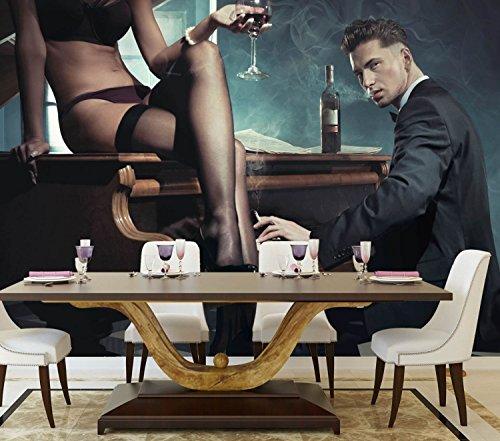 B-wie-Bilder.de XXL-Poster Fototapete Tapete Vlies Erotik Piano Bar Material Vlies ohne Kleber, Größe 200 x 150 cm 2-TLG