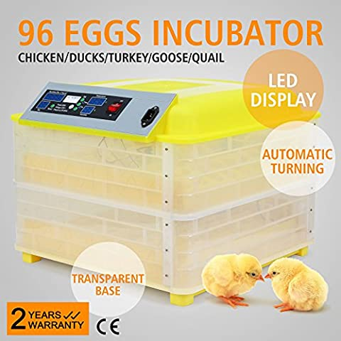 HPcutter Incubator 96 Eggs Automatic Chicken Incubator Poultry Hatcher Hatch Duck Quail Goose Supply Digital