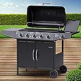 Broil-master Barbecue a gas BBQ grill 5+1 in acciaio colore nero