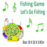 Best Creativity for Kids Board Game For Kids - Fishing Game - Kids Colorful Electronic Musical Rotating Review