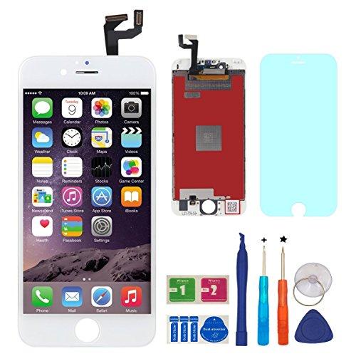 BBSELL LCD Pantalla Táctil Reemplazo De Marco Digital Un Conjunto Completo De Herramientas y Montaje Pantalla De Vidrio Protector Para IPhone 6S 4.7 (blanco)