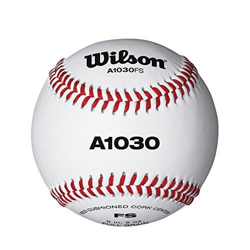 Wilson Baseballs, A1030 FLAT SEAM, 12er Pack, Weiß, WTA1030BFS