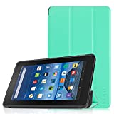 Fintie Fire 7 2015 Hülle - Ultradünne Lightweight Schutzhülle Tasche SlimShell Case mit Standfunktion für Amazon Fire 7 Zoll (5. Generation - 2015 Modell) Tablet, Minze Grün