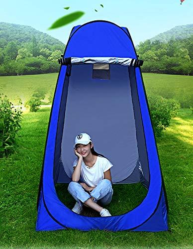 Vinteky Umkleidezelt Camping Duschzelt Outdoor Mobile Toilette Tragbar Umkleidekabine Lagerzelt (blau)