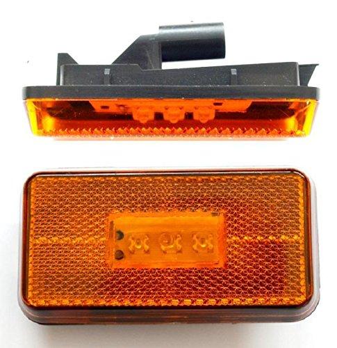 Preisvergleich Produktbild 2 x Bernstein LED Seite Schritt Marker Leuchte Lampe bestimmte für Scania R 2004 > OEM 1737413