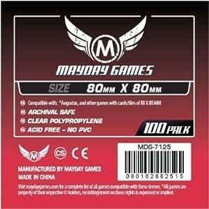 Mayday 80 x 80 mm Board Game Sleeves - Medium Square Augustus