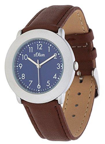 s.Oliver Damen-Armbanduhr Analog Quarz Leder SO-15018-LQR