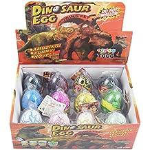 Yeelan Dino dinosaurio Dragón de huevos para incubar creciente juguete grande Tamaño del envase de 12 unidades, mezclar colores