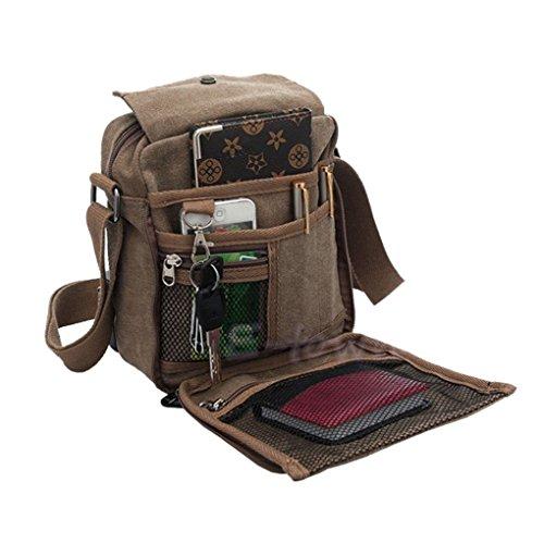 Preisvergleich Produktbild Liying Neu Umhängetasche Rucksack Tasche Retro Canvas Handtasche Praktisch Aktentaschen schultasche