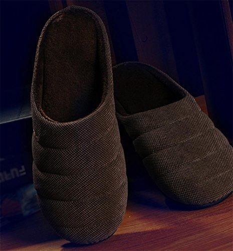 W&XY Hiver Chaud Anti-slip Chaussures Maison Pantoufles Pantoufles Dintérieur Doux Fond Maison Hiver MenWarm Non-Slip 43