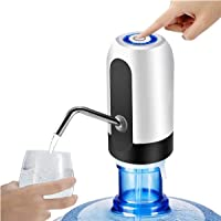 TURBOFLEX® Automatic Wireless Portable Mini Rechargeable Water Bottle Can Dispenser Pump Upto 20 Litre Bottle with USB…