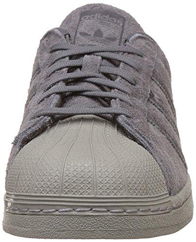 adidas Superstar, Sneaker a Collo Basso Uomo Grigio (Grey Five F17/Utility Black F16/Utility Black F16)