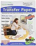 Transfer Magic Transferpapier 21,6x 27,9cm für Tintenstrahldrucker 7Stück