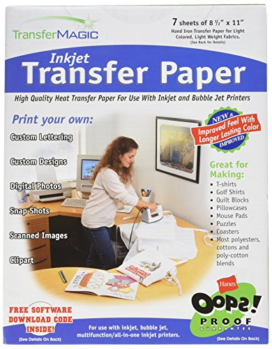 Transfer Magic Transferpapier 21,6x 27,9cm für Tintenstrahldrucker 7Stück -