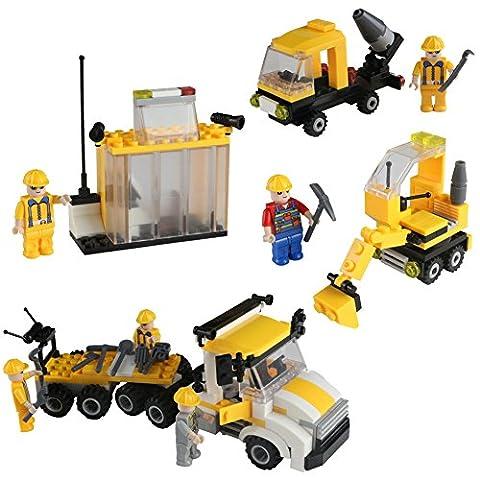 Jeux de Construction Plastique Bloc Jeux de Montage Ensemble de City Builder Voiture pour Enfant