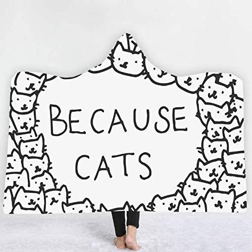 Kitty Katze Muster 3D Decke Mit Kapuze Decken Für Erwachsene Kinder Decke Poncho Gutes Geschenk 150 * 200 cm -