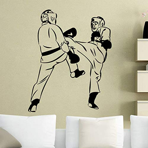 jiuyaomai Kunstwand Tapete Karate Kämpfer Wandtattoo Für Schlafzimmer Removable House Decor Vinyl Wandaufkleber Neue Ankunft Decals 6 42x51 cm
