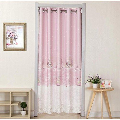 Liuyu · Lebendes Haus Tür Vorhang Tuch ländlichen abgeschnitten Badezimmer Schlafzimmer Küche Wohnzimmer langen Vorhang Fawn Muster ( Farbe : Pink , größe : 200*200cm )