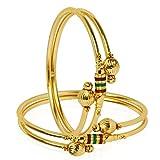 Zeneme Precious Gold Plated Bangle Set F...