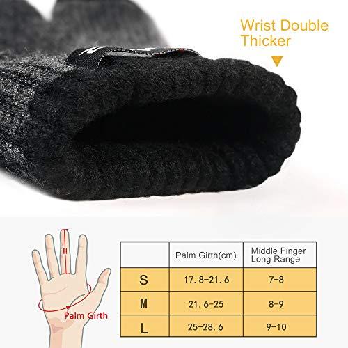 309d67574933fa 4UMOR Winterhandschuhe Touchscreen Handschuhe Strick Fingerhandschuhe Sport  Warm und Winddicht Winterhandschuhe für Skifahren Radfahren und SMS