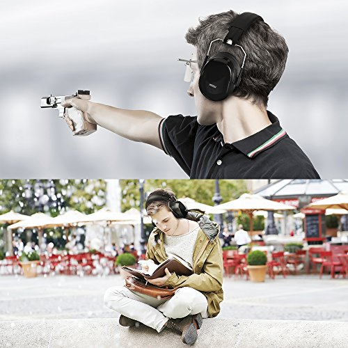ear muffs headband mpow ohrensch tzer snr 34 db geh rschutz f r erwachsene und kinder. Black Bedroom Furniture Sets. Home Design Ideas