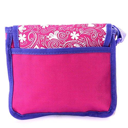 Bolso de bandolera 'Violetta'púrpura rosado.