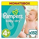 Pampers Baby Dry Windeln Gr. 4+ (9-18 kg),...